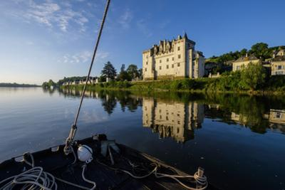 Traditional boats on Loire river, Montsoreau, on the heritage list of UNESCO, Maine et loire, Loire by Nathalie Cuvelier