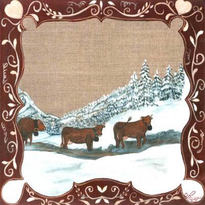 3 Vaches dans la Neige