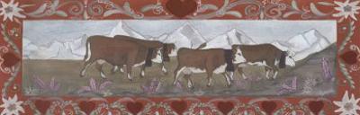 Troupeau de Vaches En Ete