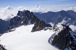 The Stanely Plateau and Elena and Moibeus Peaks on Mt. Stanely in Rwenzori National Park, Uganda by Nathan Dappen