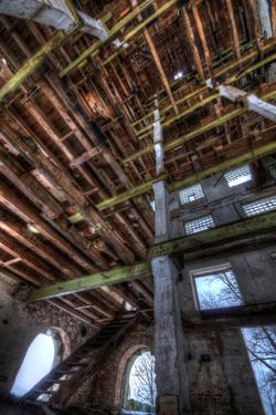 Abandoned Building Interior in Winter by Nathan Wright