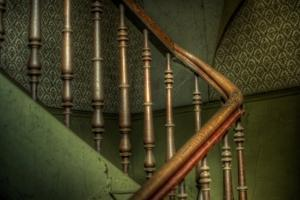 Cobwebs on Stairway by Nathan Wright