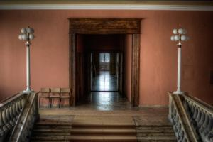 Corridor in Empty Building by Nathan Wright