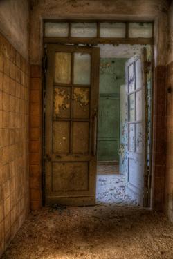 Derelict Interior Hallway by Nathan Wright