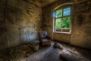 Derelict Room with Chair by Nathan Wright