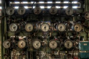Dials in a Power Station by Nathan Wright
