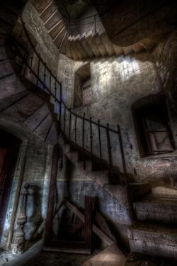 Haunted Interior Stairway by Nathan Wright