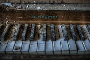Haunted Interior with Piano by Nathan Wright