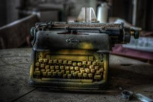 Haunted Interior with Typewriter by Nathan Wright