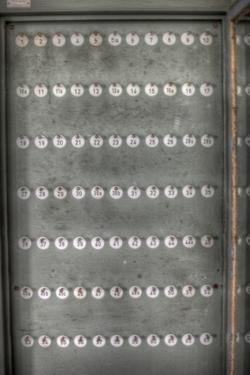 Numbered Counters on Rack by Nathan Wright