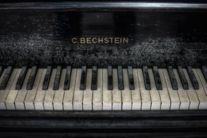Old Bechstein Piano by Nathan Wright