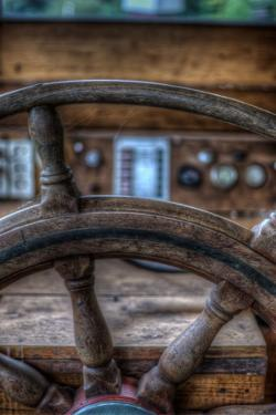 Old Boat Steering Wheel by Nathan Wright