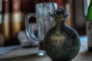 Old Bottle of Schnaps by Nathan Wright