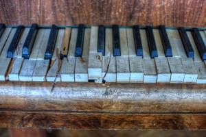 Old Broken Piano by Nathan Wright