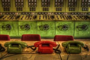 Old Telephones in Control Room by Nathan Wright