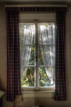 Old Window with Tartan Curtain by Nathan Wright