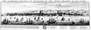 The South West Prospect of Liverpool, in the County Palatine of Lancaster, 1728 by Nathaniel and Samuel Buck