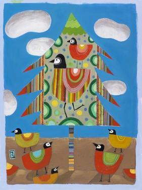 Christmas Tree and Birds by Nathaniel Mather