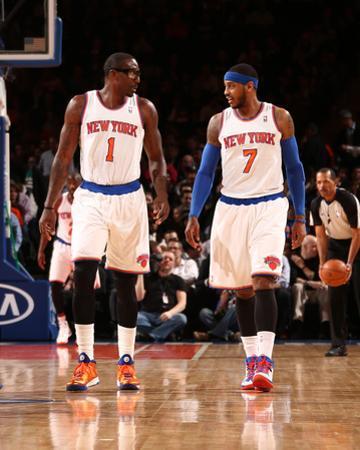 Feb 24, 2014, Dallas Mavericks vs New York Knicks - Amar'e Stoudemire, Carmelo Anthony by Nathaniel S. Butler
