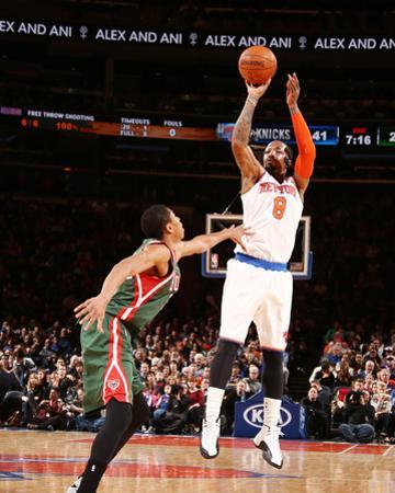 Milwaukee Bucks v New York Knicks by Nathaniel S Butler