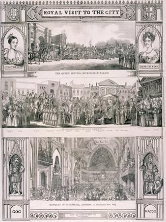 Queen Victoria's Visit to the City of London, 1837 by Nathaniel Whittock