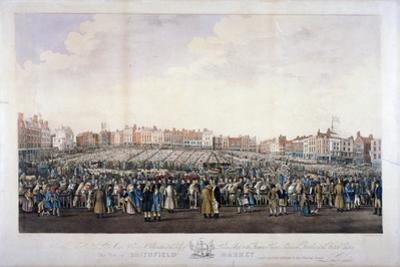Smithfield Market, West Smithfield, City of London, C1825 by Nathaniel Whittock