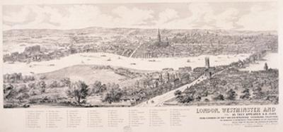 View of London from Southwark, 1543 by Nathaniel Whittock