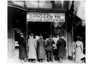 National Association Opposed to Woman Suffrage (Headquarters, Sign) Art Poster Print