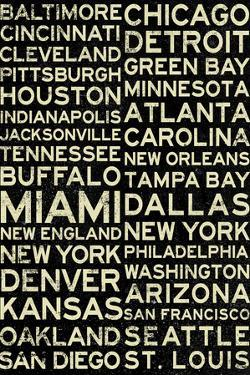 National Football League Cities Vintage Style Plastic Sign