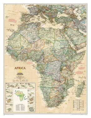 Maps of africa posters for sale at allposters national geographic africa map executive style gumiabroncs Gallery