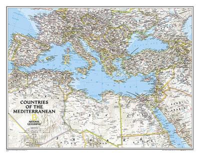 National Geographic Countries Of The Mediterranean Map