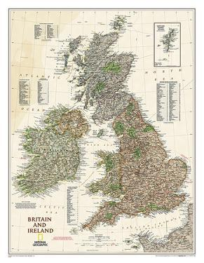 National Geographic - Map of Britain & Ireland Executive Style