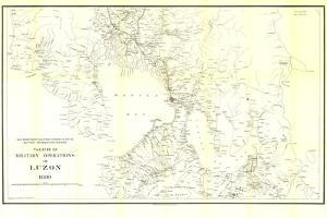 1899 Theatre of Military Operations in Luzon by National Geographic Maps