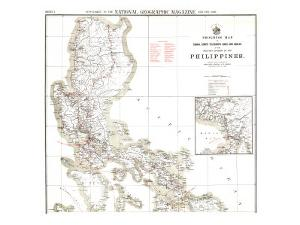 1902 Philippines Military Telegraph Lines North Map by National Geographic Maps
