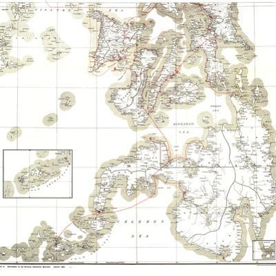 1902 Philippines Military Telegraph Lines South Map by National Geographic Maps