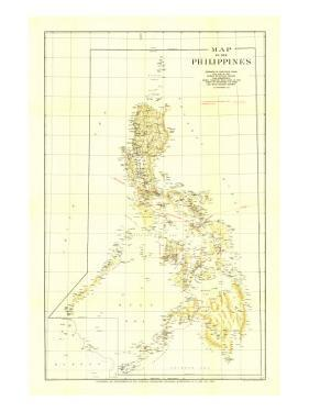 1905 Philippines Map by National Geographic Maps