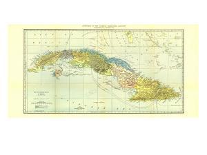 1906 Cuba Map by National Geographic Maps