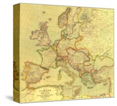 """Map of Paris 1800 Canvas Print 16X12/"""""""