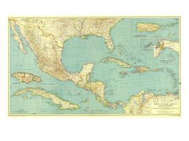 Affordable Maps of Central America Posters for sale at AllPosters.com