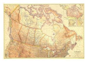1936 Canada by National Geographic Maps