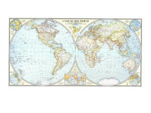 1941 World Map by National Geographic Maps