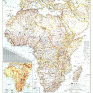 1943 Africa Map by National Geographic Maps