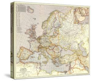 1943 Europe, and the Near East Map by National Geographic Maps