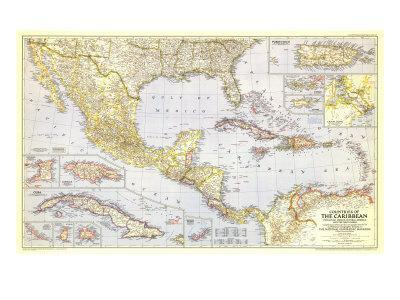 Maps Of The Caribbean Posters At AllPosterscom - Caribbean maps