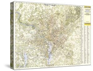1948 Suburban Washington DC, Maryland & Virginia Map by National Geographic Maps