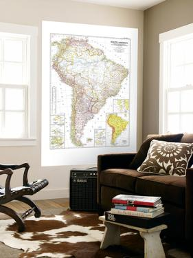 1950 South America Map by National Geographic Maps