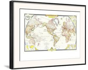 National geographic maps poster frames for sale at allposters 1951 world map by national geographic maps gumiabroncs Images