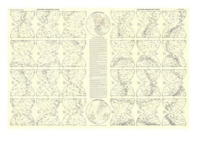1957 Heavens Star Chart by National Geographic Maps