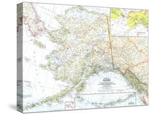 1959 State of Alaska Map by National Geographic Maps
