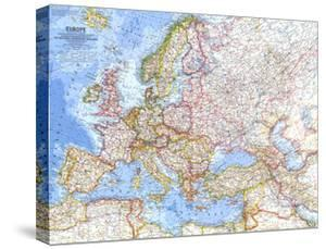 1962 Europe Map by National Geographic Maps
